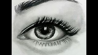 Basit ve realist Göz Çizimi- Yavaş Çekim-Simple and realistic ( Realistic ) Eye Drawing Slow Motion