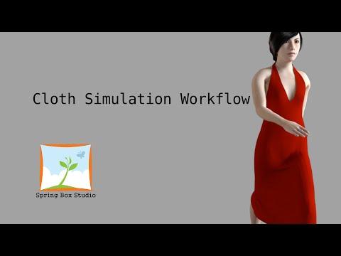 Cloth Simulation Workflow in Blender