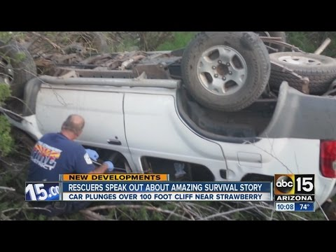 3 teens rescued after SUV veers off cliff, lands on girl