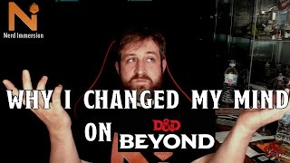 Why I changed my mind about DnD Beyond | Nerd Immersion
