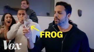 How David Blaine barfs frogs