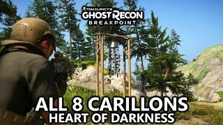 Ghost Recon Breakpoint - All 8 Carillons - Heart of Darkness Achievement/Trophy Guide - Locations