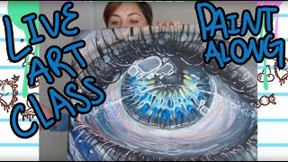 Coffee And Art Class 01! Painting LIVE!
