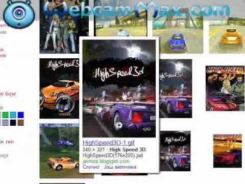 High Speed 3d 240x400 touchscreen racing game
