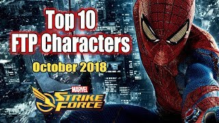 Top 10 FTP Characters October 2018 - Marvel Strike Force