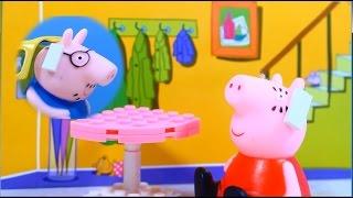 Свинка Пеппа - Мультфильм из игрушек. Пеппа, Джордж и машинки.  Peppa Pig