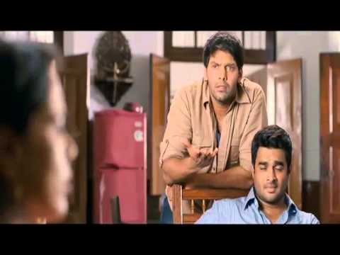 Tamil Movie Vettai Comedy Scene - Amalas Kiss to Arya   - Arya...