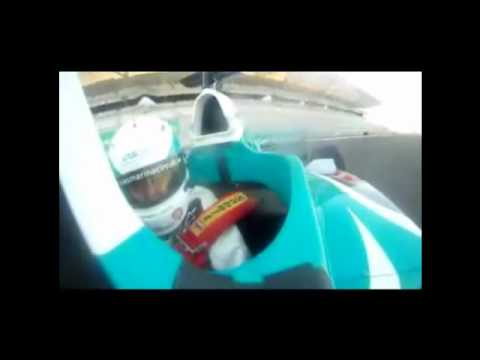 Unbelievable G-Force in a F1 car 850 bhp -  Lucas di Grassi
