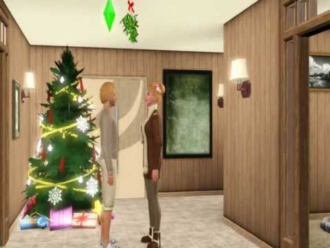 The Sims 3 Kissing Under the Mistletoe!