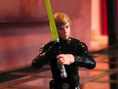 Star Wars:  Luke Skywalker vs. Anakin Skywalker (Stop-motion)