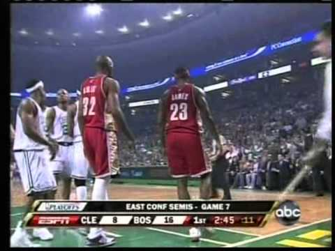 Paul Pierce 41 pts vs Lebron James 45 pts, playoffs 2008 celtics vs cavs game 7