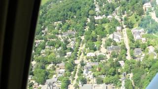 Plane ride over Granville, Ohio