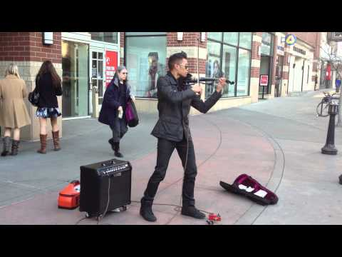 Downtown Spokane Street Musician Bryson Andres video