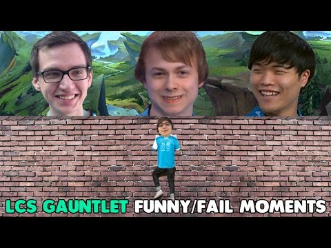 LCS GAUNTLET FUNNY/FAIL MOMENTS - 2016 Summer Split