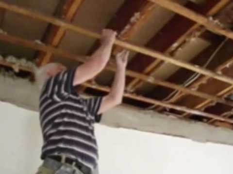 Plastering How to Install an Ornate Plaster Ceiling Part 1