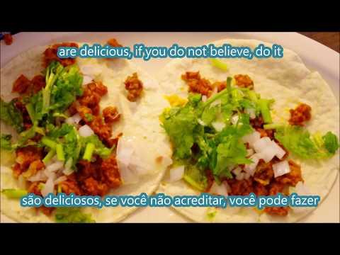 Tacos de soya adobada/tacos de soja marinados/marinated soy tacos