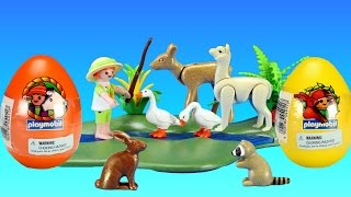 Playmobil Farm Animals Easter Surprise Eggs Toys Collection For Kids