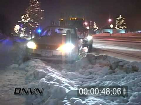 Various Winter Weather Bad Driving Conditions Stock Video Part 3