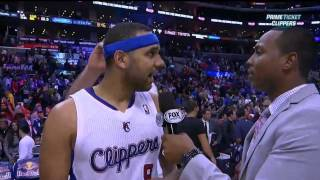 Teammates mess with Jared Dudley during postgame interview