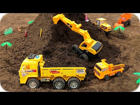 Camiones Infantiles de Construcción | Construction Vehicles Toys for Kids | Carros para Niños