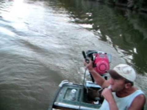 MUD MOTOR HOMEBUILT 5 HP HONDA
