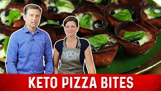 Crispy Keto Pizza Bites Recipe | Karen and Eric Berg