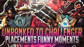 Tarzaned | UNRANKED TO CHALLENGER | PRESEASON JUNGLERS | PLACEMENTS FUNNY MOMENTS