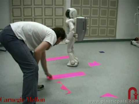 ASIMO avoids moving obstacles