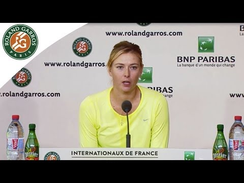 Press conference M.Sharapova 2014 French Open QF