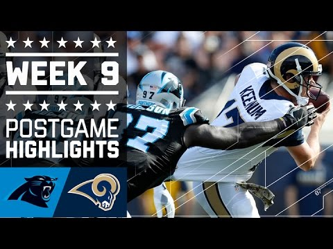 Panthers Vs Rams Nfl Week 9 Game Highlights