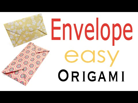 Paper Envelope Origami Easy Tutorial - Origami Kawaii