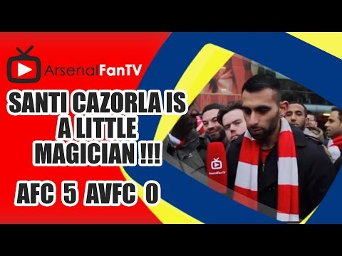 Santi Cazorla Is A Little Magician !!! - Arsenal 5 Aston Villa 0