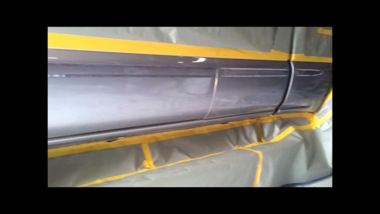 Gmc Sierra Rocker Panels Sprayed With Rhino Lining Coating