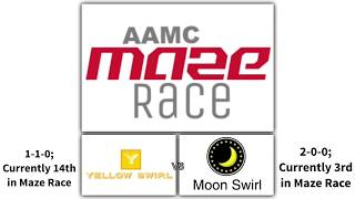 2018-19 Maze Race round 3: Yellow Swirl vs Moon Swirl