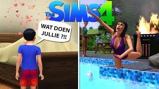 BACKFLIPS IN ZWEMBAD + LUKA BETRAPT ONS ?! | De Sims 4 #9