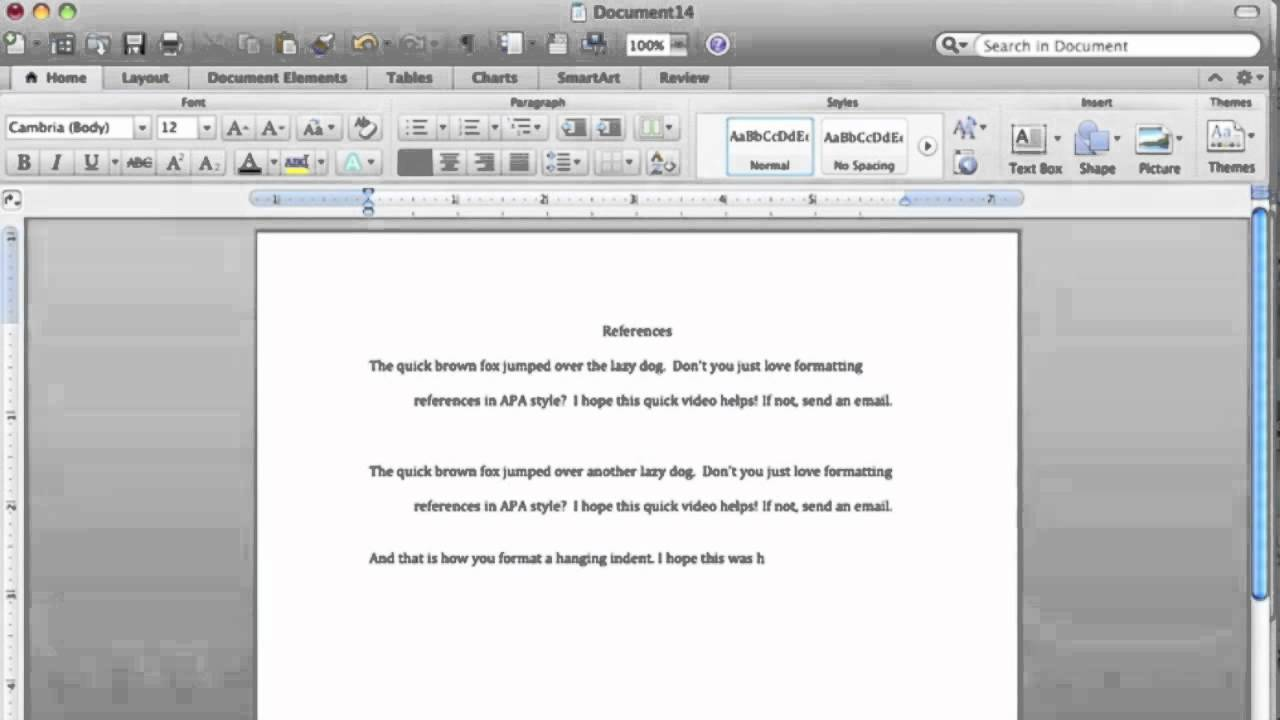 Word Hanging Indent Mac Youtube
