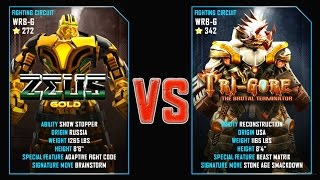 REAL STEEL WRB Final Zeus Gold VS Tri Gore Gold New Robots GOLD UPDATE (Живая сталь)