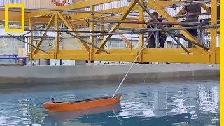 Cette technologie permet de simuler les catastrophes en haute mer