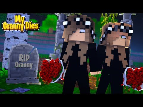 LITTLE CARLY AND LITTLE KELLY'S GRANNY DIES! (Minecraft Roleplay).