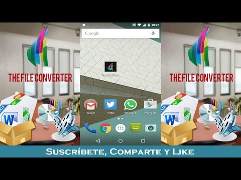 El mejor convertidor de archivos para Android | videos, audio, documentos, ebooks, imágenes y más