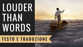 Pink Video - Pink Floyd - Louder Than Words (Testo e Traduzione)