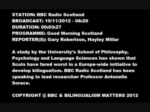 BBC Radio Scotland 15 Nov 2012 - Good Morning Scotland