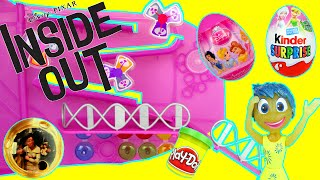 Disney Inside Out Headquaters Playset Toy Review Unboxing & Kinder Surprise Eggs