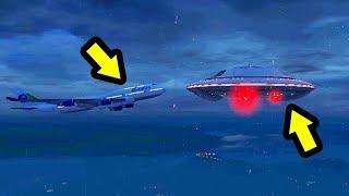 قراند 5 : ماذا سيحدث إذا اصطدمت طائرة في المركبة الفضائية | GTA V UFO vs Airplane