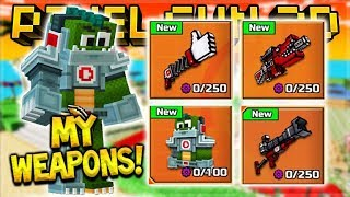 UNLOCKING MY OWN WEAPONS EVENT SET ADDED TO THE GAME! OUT NOW!! | Pixel Gun 3D