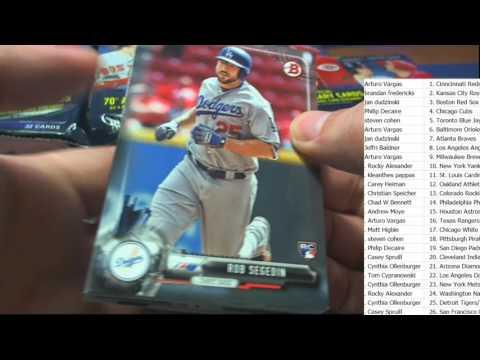2017 Bowman Baseball JUMBO ID 17MAYBMAN801