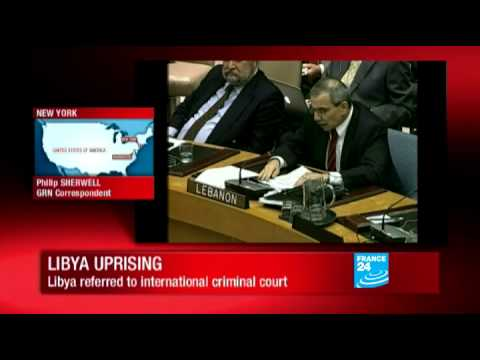 Libya: UN Security Council votes sanctions on Gaddafi