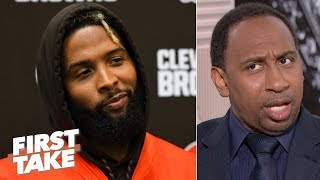 OBJ got paid, so he shouldn't feel disrespected by the Giants - Stephen A. | First Take
