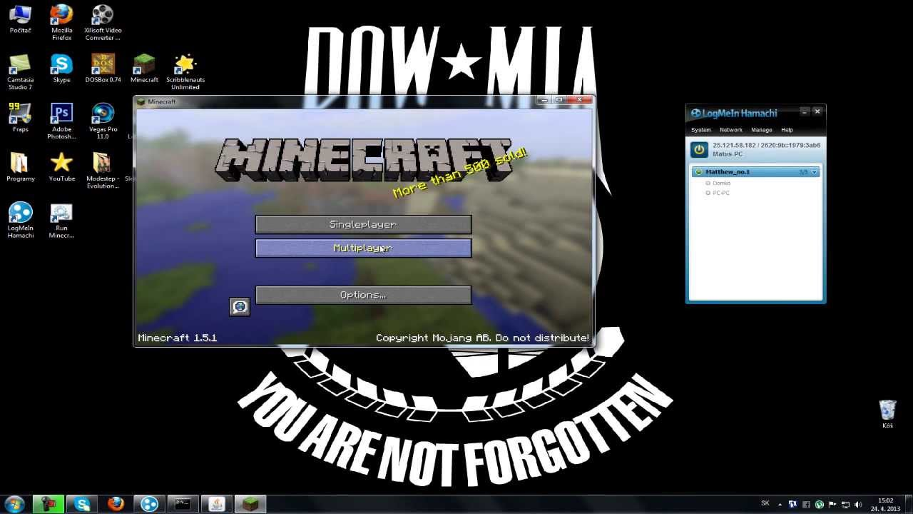 how to play minecraft multiplayer with hamachi