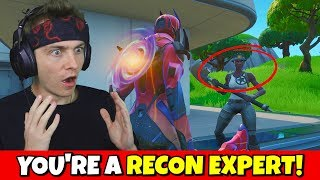 my first time ever meeting a recon expert in fortnite... (so rare)